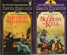 Lot/Set of 5 Complete the Malloreon HARDCOVER by David Eddings (Fantasy)  Murgos