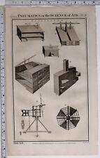 1788 ORIGINAL PRINT PNEUMATICS AIR SCIENCE VENTILAOR VARIOUS APPARATUS EQUIPMENT