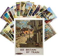 Postcards Pack [24 cards] British Railroads Vintage Travel Posters CC1054