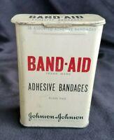 Old Advertising Tin BAND-AID Adhesive Bandages Johnson & Johnson New Brunswick