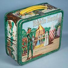 1956 Robin Hood Original Metal Lunch Box Aladdin Errol Flynn Richard Greene