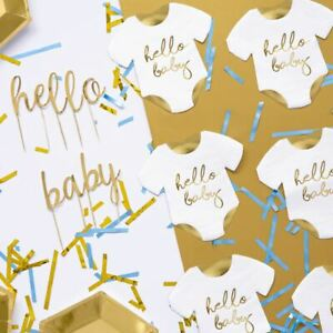 Gold Baby Shower Napkins | Gender Reveal Unisex Partyware Decorations x20