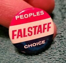 VTG Peoples Choice Falstaff Beer Pinback Pin Button F82
