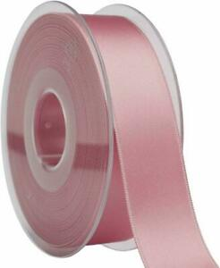 DUSTY PINK SATIN RIBBON 25m ROLL 50mm WEDDING CHRISTENING NEW BABY DOUBLE SIDED