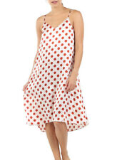 Papinelle Karen Walker Pure 100% Silk Spot Slip Nightie Sz S