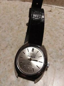 Vintage 1960s Sears Paint advertising men's mechanical watch Still Works