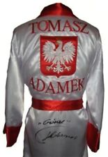 "TOMASZ ""GORAL"" ADAMEK SIGNED WHITE BOXING ROBE - COA (ASI) / PHOTO PROOF"