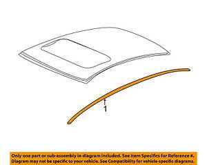 Acura HONDA OEM 13-16 ILX-Roof Molding Trim Right 74306TX6A01