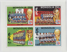 MONGOLIA MNH Scott # 2157b Football - Soccer USA 1994 (1 Sheet)