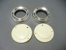 63 64 Ford Galaxie Mercury dome lamp bezels and lenses fastback rear pillar