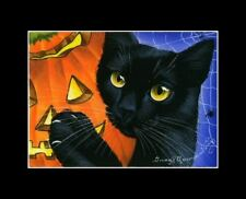 Halloween Cat ACEO Print My Precious by I Garmashova