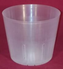 (4) 4CLS popular 4 inch clear plastic orchid pot slots strong flexible small
