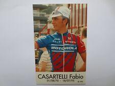 wielerkaart 1995 team motorola fabio casartelli