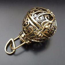 39682 Bronze Hollwed Flower Lockets Harmony Ball Wings Pendants Making 2Pcs