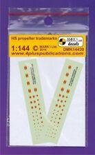 Mark I decals 1/144 hamilton standard propeller trademarks (2 sets)