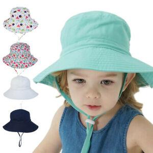 Baby Sun Hat Children Beach Girls Bucket Hats Cartoon Infant Caps UV Protection