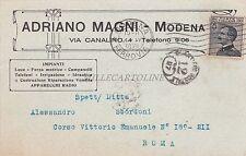 MODENA - Adriano Magni - Impianti Apparecchi Radio 1930