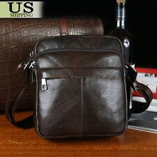 Men's Leather Crossbody Messenger Shoulder Bags Briefcase Handbag Satchel Bag