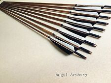 Free ship12PK Traditional Bamboo arrows For Archery longbow recurve bow  hunting