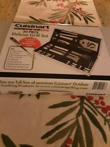 Cuisinart CGS-5020 Deluxe Grill Set 20-Pieces Stainless Steel NEW!