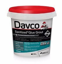 Davco SANITIZED GLUE GROUT 500ml Premixed, Acrylic Based, WHITE *Australian Made