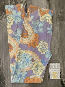 NEW RELEASE Lularoe Leggings OS One Size Beautiful Flower Paisley Lilac Print