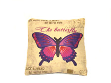 """Butterfly Decorative Throw  Pillow Cushion Sofa / Bed - 16""""X16Inch"""
