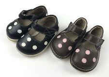 Lot of 2 Baby Girl Puddle Jumper Sz 2 Mary Janes Polka Dot Brown Pink Black Wht