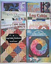 LOG CABIN QUILTING Lot of 8 PB Books & Booklets Patterns Designs Honeycomb