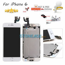 IPhone 6 4.7'' Replacement White LCD Touch Screen Digitizer +Home Button +Camera