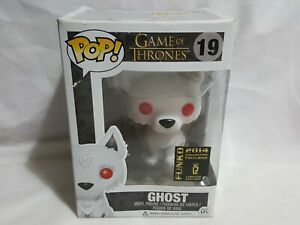 Game of Thrones POP 19 Ghost Funko 2014 Convention Exclusive Flocked Figure toy