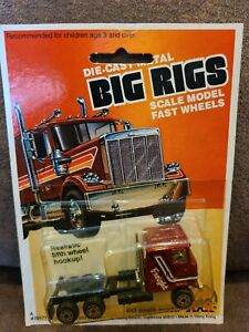 New 1981 Zee Toys Big Rigs HO Scale Freight Truck Cab & 5th Wheel Hookup ASIS