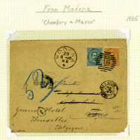 Modena Stamps 1885 Stamped Cover Chambery a Macon