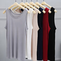 Men 100% Pure Nature Silk Tank Sleeveless Top Knit Vest Singlet Blouse Luxury