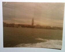 Vintage 80s Photo Venice Italy Picture Taken Of City From Cruise Tour Boat