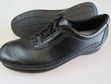 SAS Black Leather Lace Up Walking Oxford Soft Step Tripad Shoes Women's 8.5 N