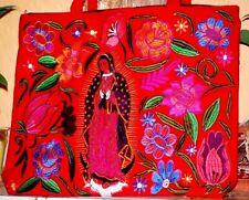 Virgen d Guadalupe Floral Embroidery Fashion Shoulder bag Messenger Tote Hobo
