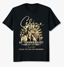 Celine Dion 40th Anniversary 1981 2021 Thank For Memories Signatures T Shirt