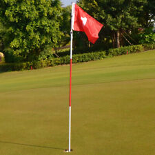 Backyard Practice Golf Putting Green Flag Stick 3 Section Golf Hole Pole Cup Set
