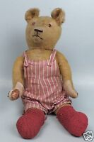 """Antique Humpback Mohair 21"""" Jointed Golden Teddy Bear W Growler - Estate Find VR"""
