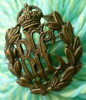 WW1 RFC Royal Flying Corps Cap Badge All BRASS 2 Lugs ANTIQUE Original