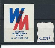 wbc. - CINDERELLA/POSTER - CE97 - EUROPE- WIENER INT. MESSE - 1963