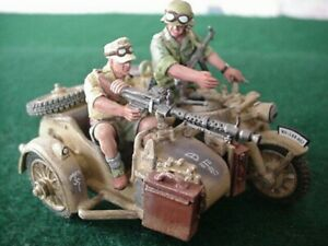 KING AND COUNTRY  GERMAN AFRIKA KORPS MOTORCYCLE & SIDECAR