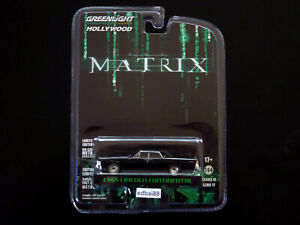 Greenlight Hollywood Series The Matrix 1965 Lincoln Continental Die-cast Car New