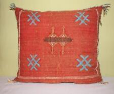 Moroccan  Vintage Cactus Silk Pillow | Sabra Pillow | Decorative redThrow Pillow