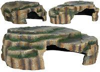Vivarium Reptile Rock Aquarium Fish Cave Ornament Terrarium Decoration 3 Sizes