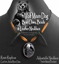 WOLF MOON DOG BEAR CLAW NECKLACE  GRIZZLY MOUNTAIN MAN HAT BAND - FREE SHIP NEW'