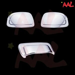 AAL FOR CHEVY TAHOE SUBURBAN 2000-03 04 05 06 CHROME MIRROR CAP + TAILGATE COVER