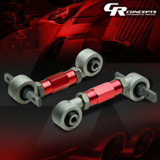 ADJUSTABLE STAINLESS STEEL REAR CAMBER KIT ARMS CIVIC/INTEGRA/DEL SOL/CRX RED