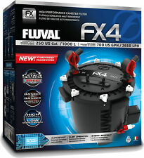 Fluval FX4 A214 Canister Filter complete set with media hose and accessories